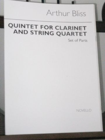 Bliss A - Quintet for Clarinet & String Quartet